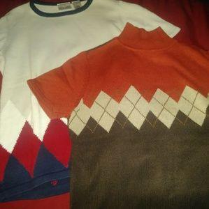2 Pack Liz Claiborne Argyle Sweater Tops